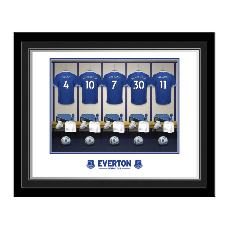 Personalised Everton Dressing Room Photo product image