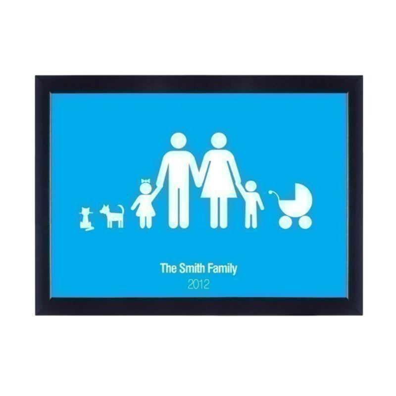 Family in Frame - Personalised Poster product image