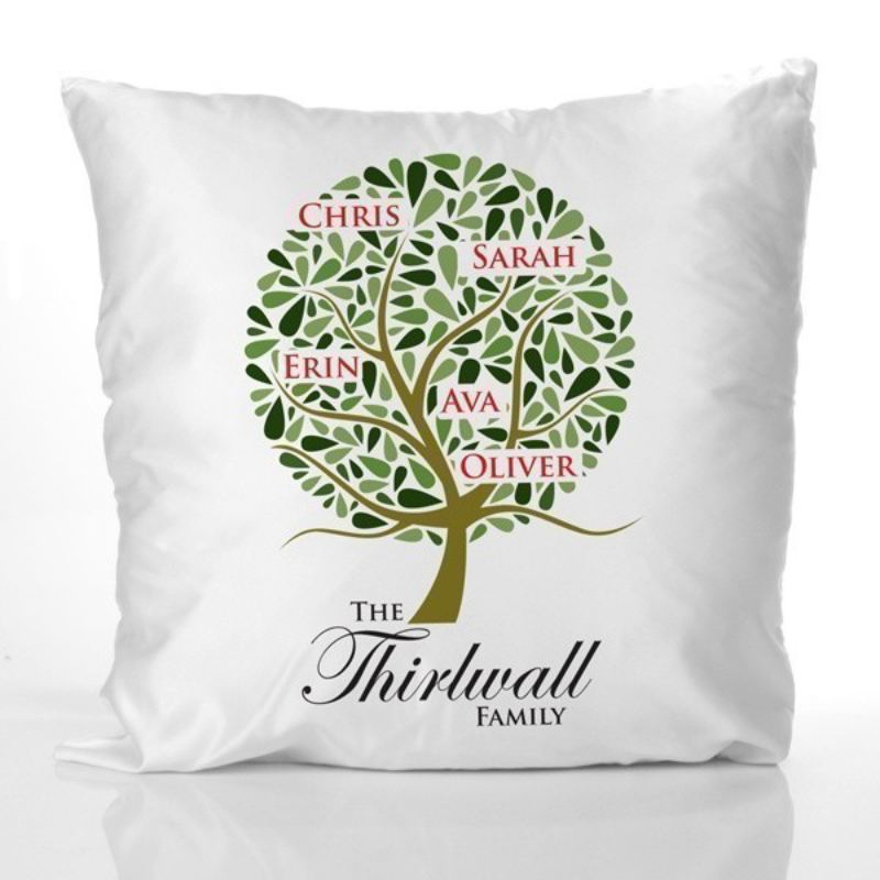 Family Tree Design Personalised Cushion product image