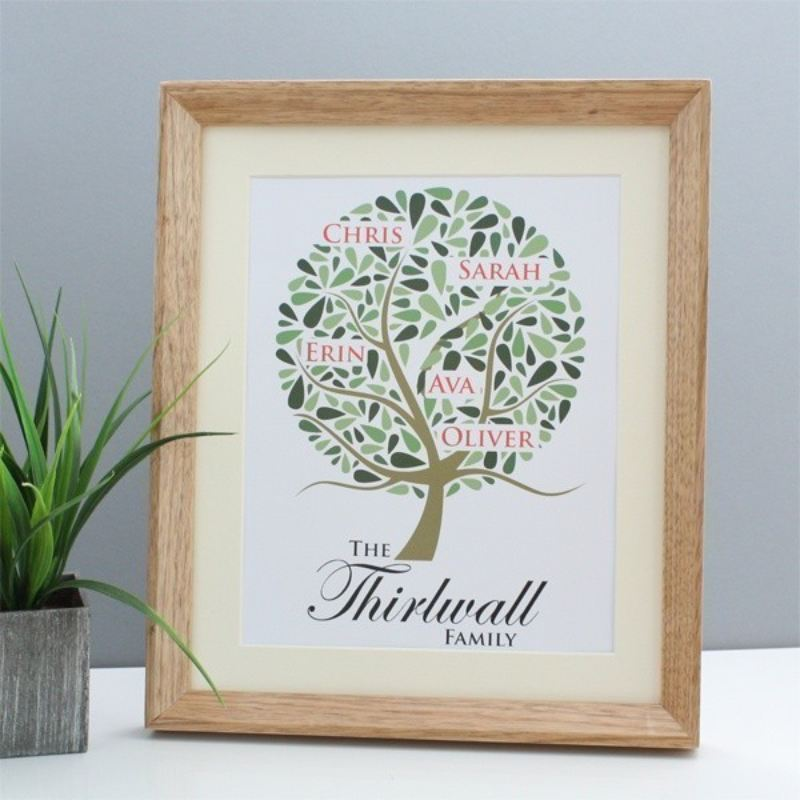 Family Tree Personalised Framed Print product image