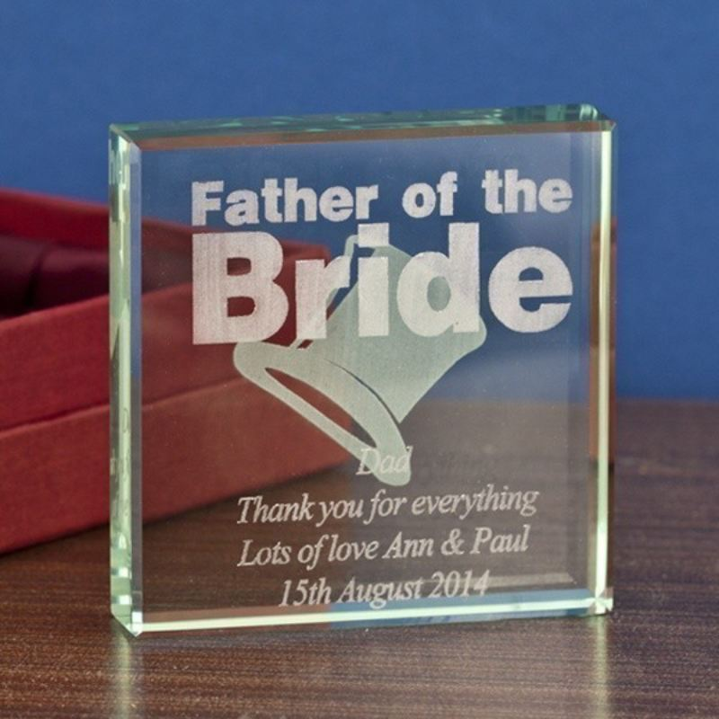 Father of the Bride Glass Keepsake product image