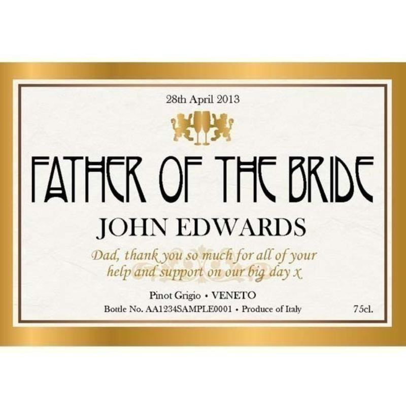 Father of the Bride Personalised Wine product image