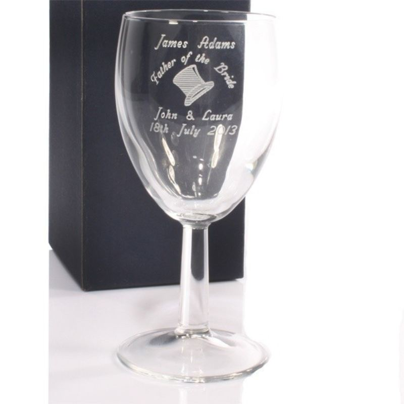 Father of The Bride Personalised Wine Glass product image