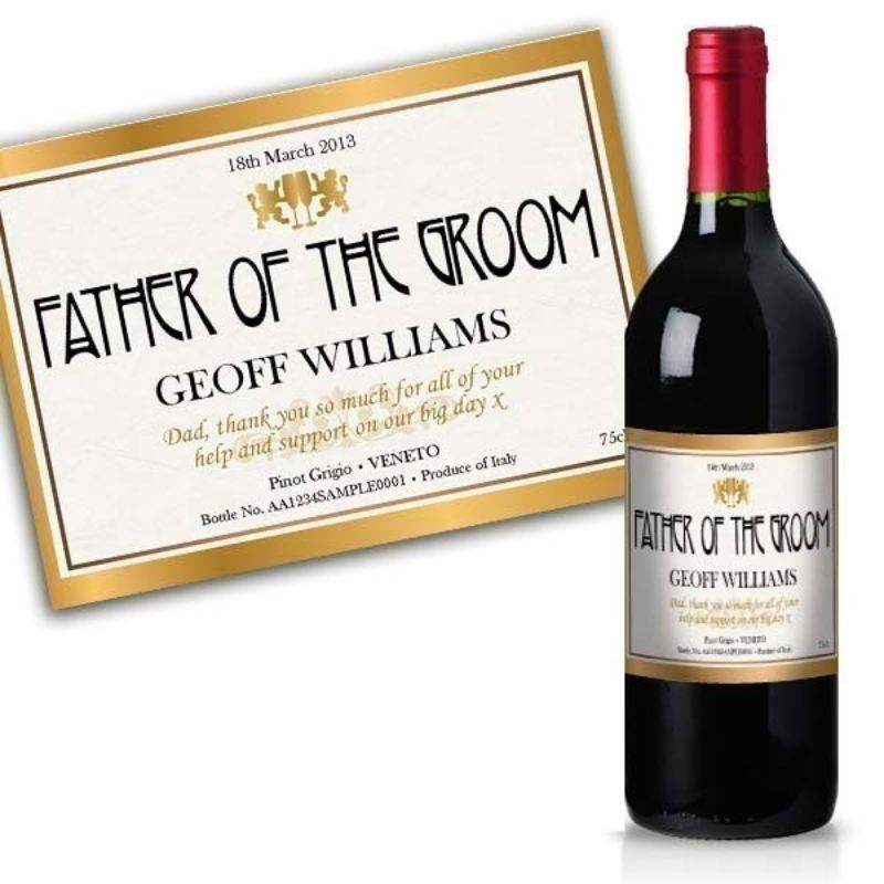 Father of the Groom Personalised Wine product image