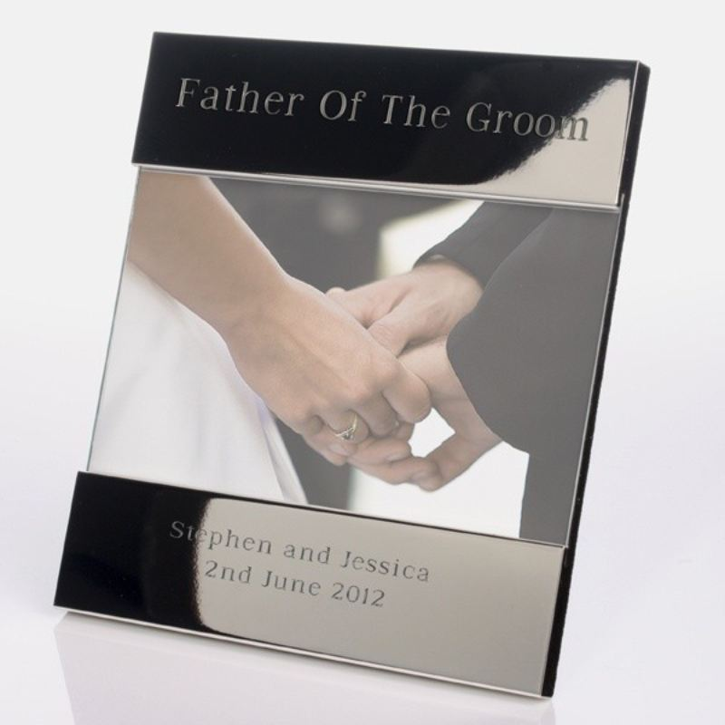 Father of the Groom Shiny Silver Photo Frame product image
