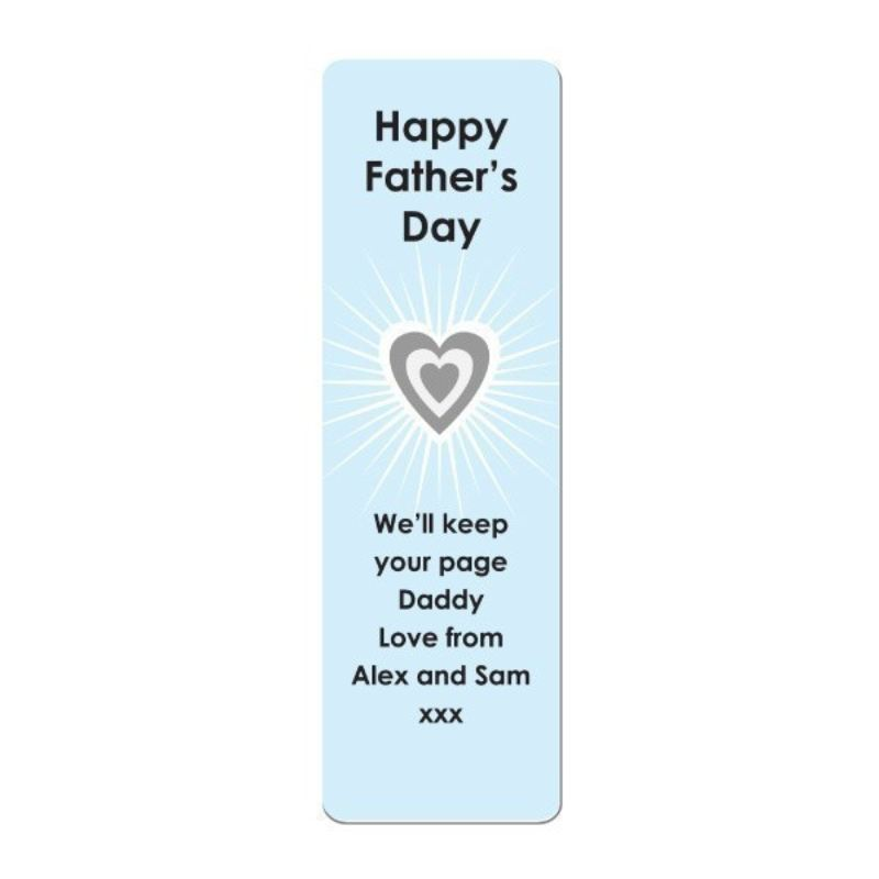 Father's Day Personalised Bookmark product image