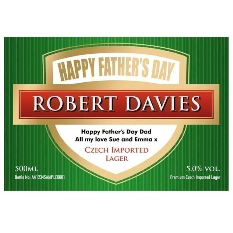 Father's Day Personalised Bottle of Lager product image