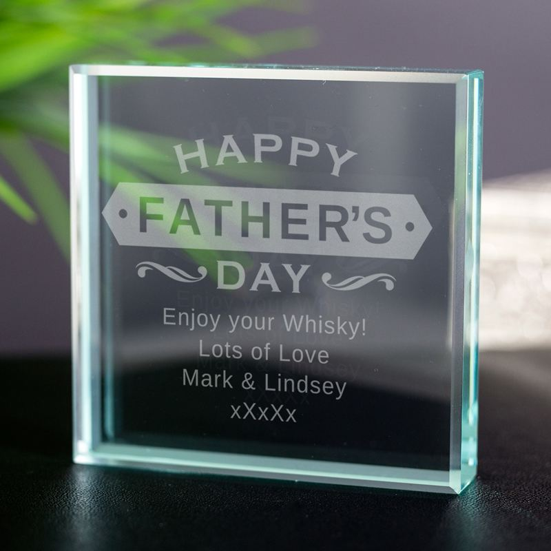 Personalised Fathers Day Glass Keepsake product image