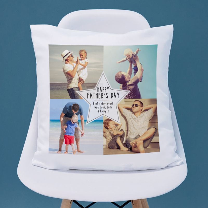 Personalised Fathers Day Photo Cushion product image