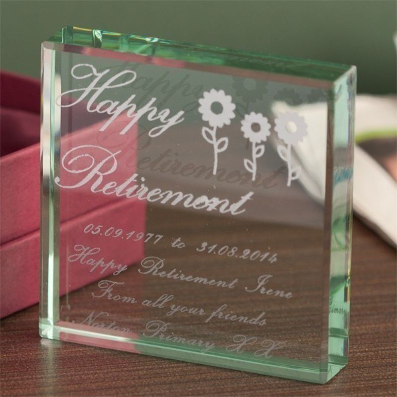 Female Retirement Glass Keepsake product image