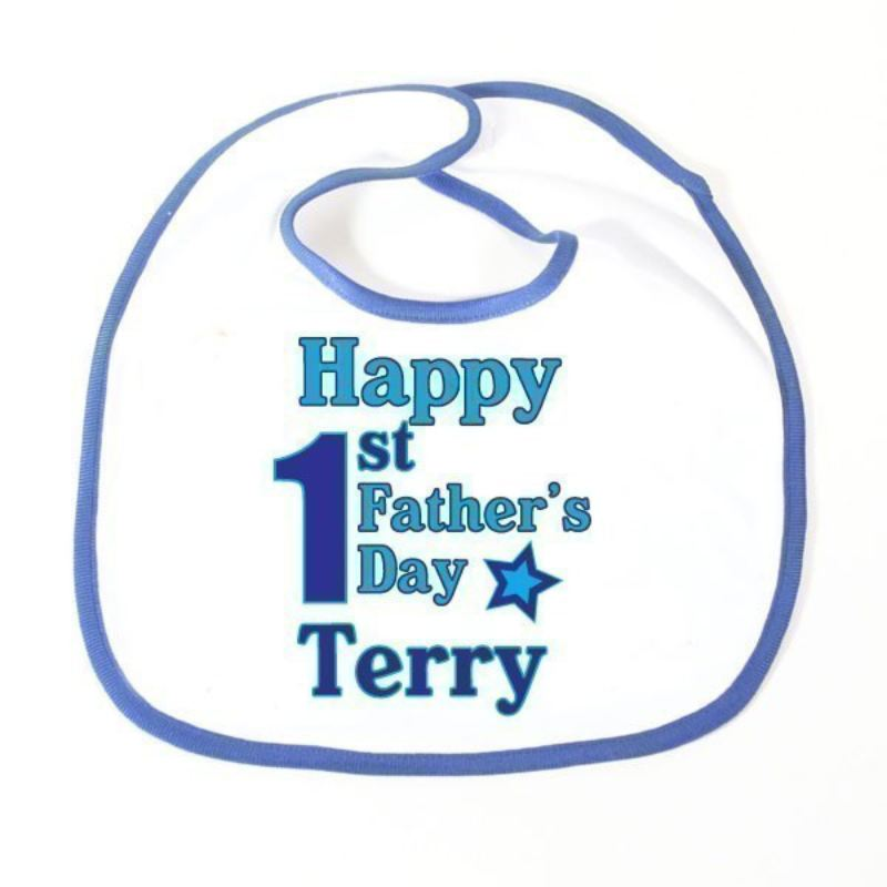 First Father's Day Personalised Baby Bib product image