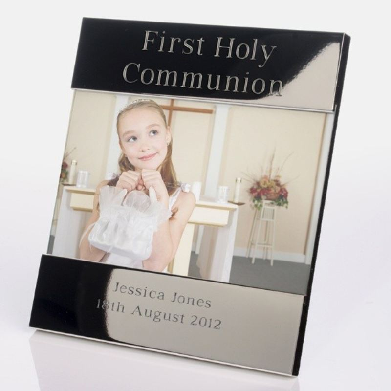 First Holy Communion Shiny Silver Photo Frame product image