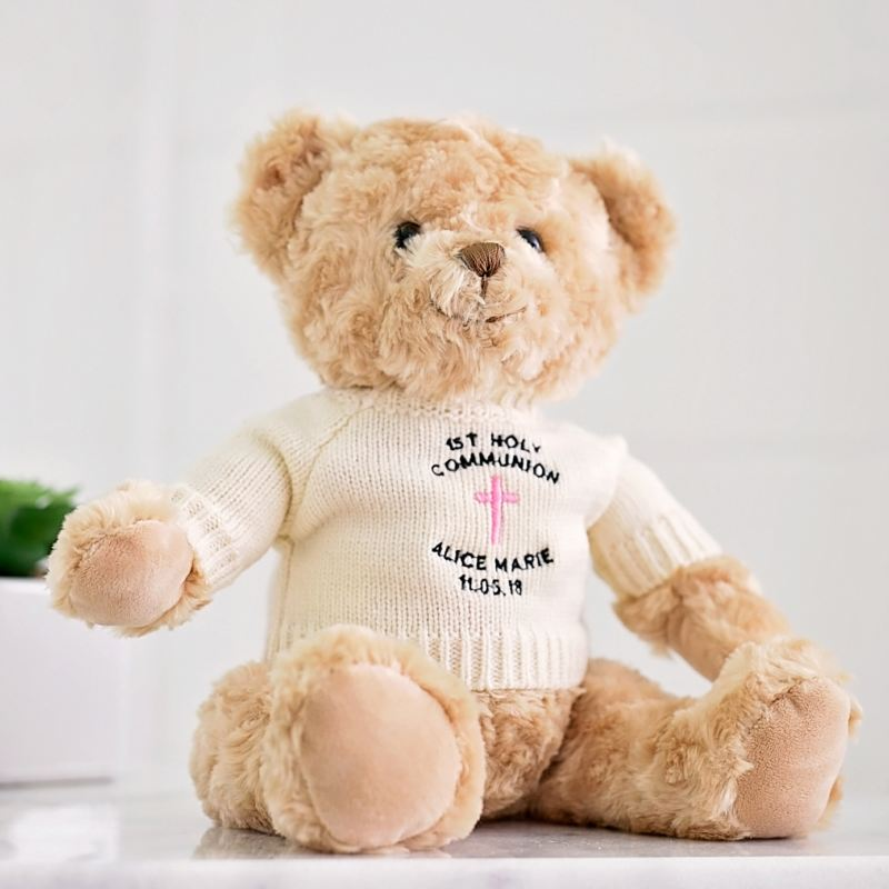 Personalised First Holy Communion Teddy Bear for a Girl product image