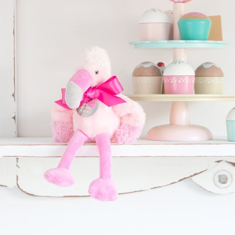 Fran The Little Flamingo - With Personalised Tag product image