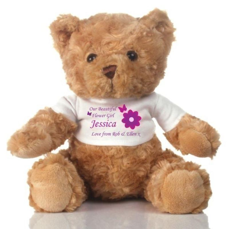 Flower Girl Personalised Teddy Bear Thank You Gift product image