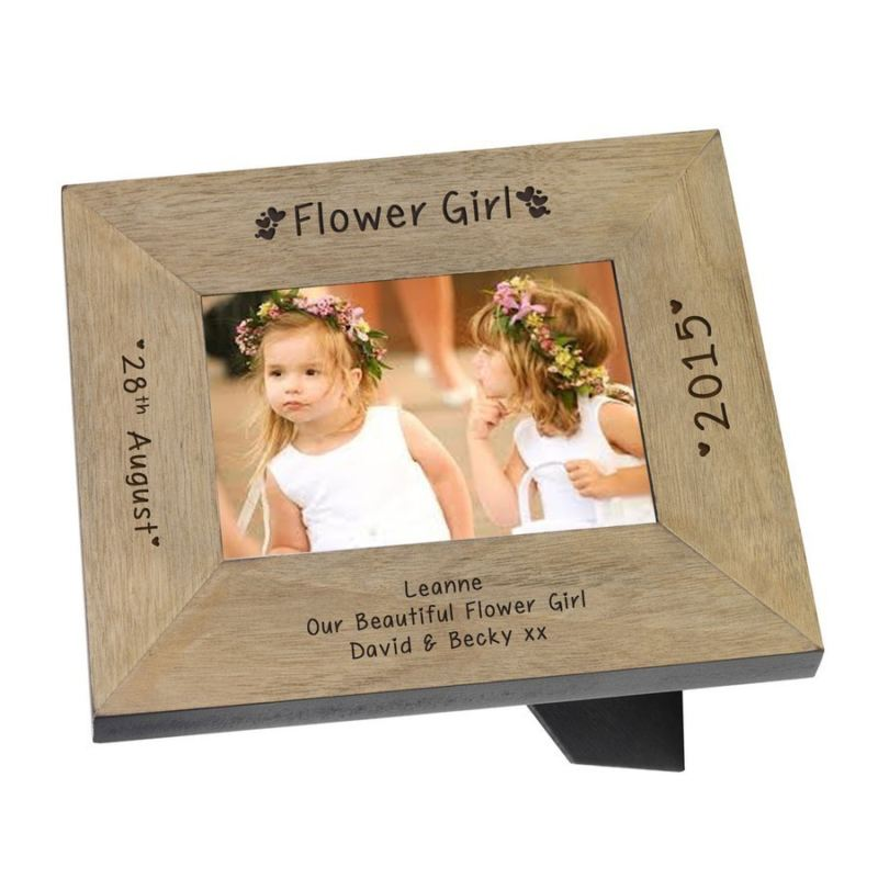 Flower Girl Wood Frame 6 x 4 product image