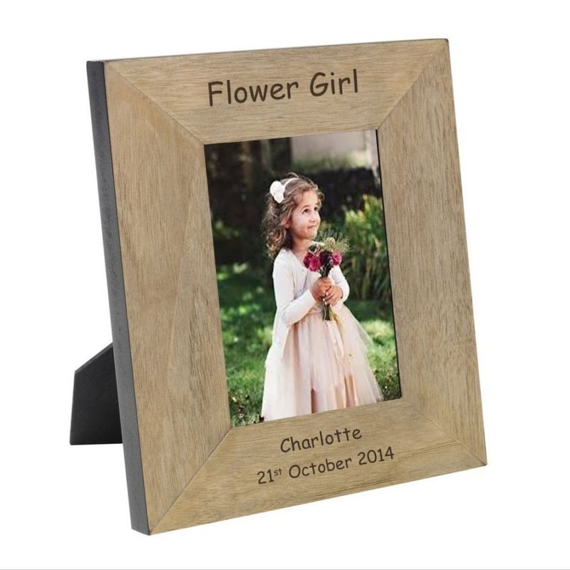 Flower Girl Wood Photo Frame 6 x 4 product image