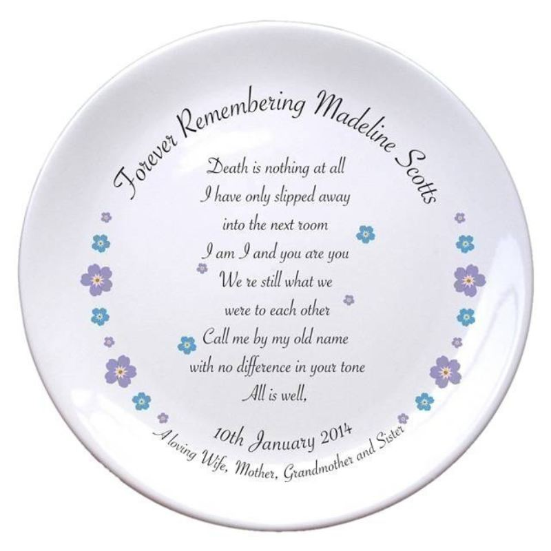 "Forget Me Not 8"" Bone China Coupe Plate product image"