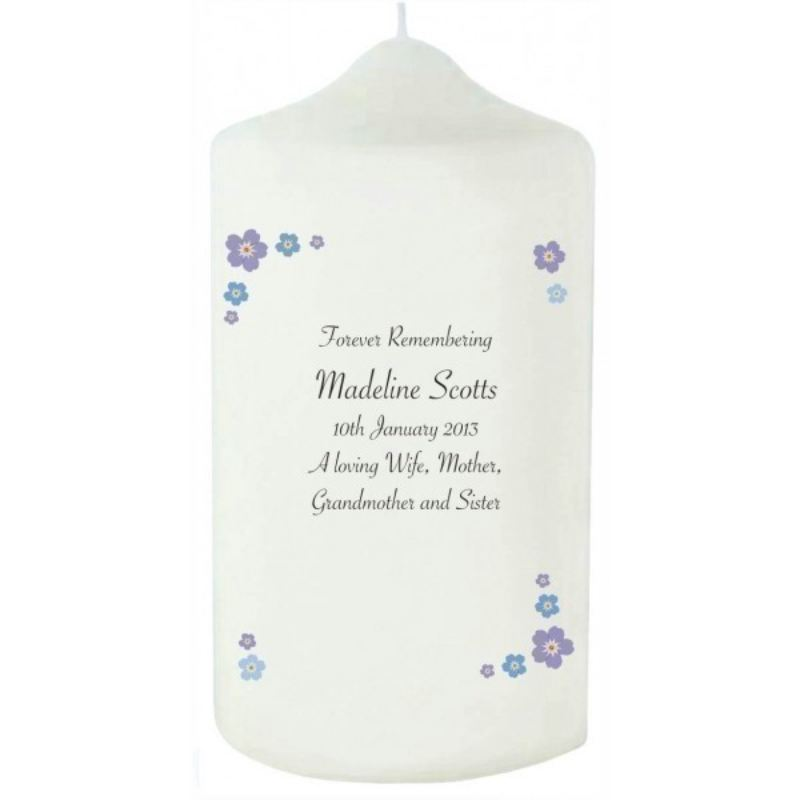 Forget Me Not Memorial Candle product image
