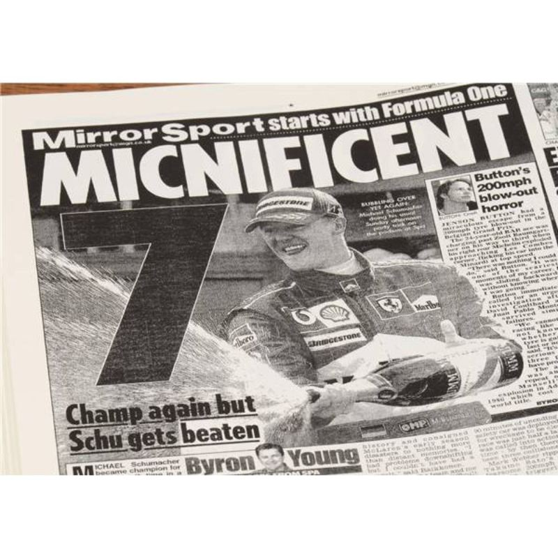 Formula One Newspaper Book - Leatherette Cover product image