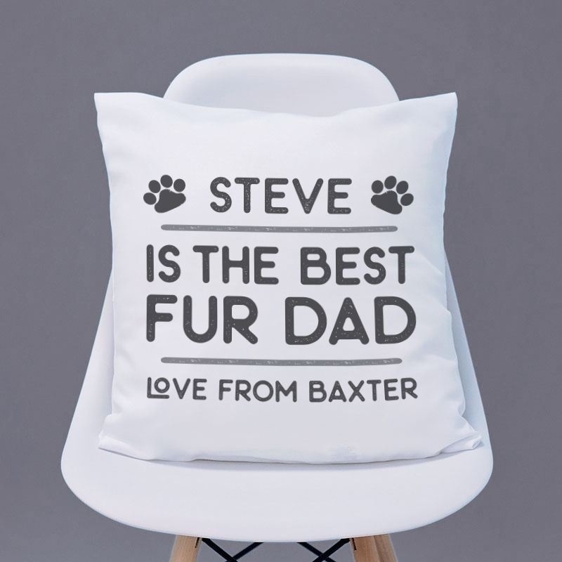 Personalised Best Fur Dad Cushion product image