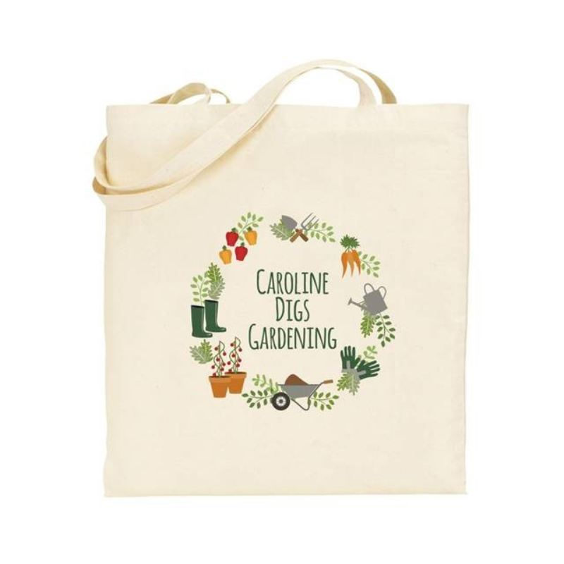Personalised Digs Gardening Tote Bag product image