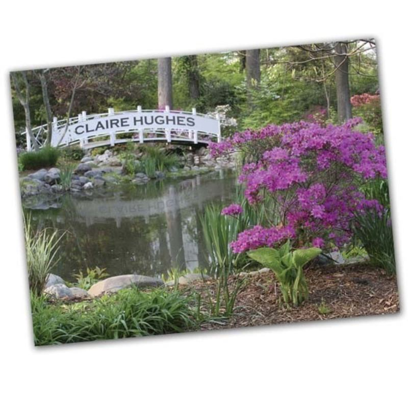Gardening Bridge on the lake Framed Poster product image