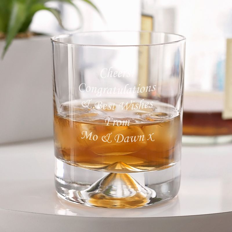 Engraved Stern Whisky Glass product image