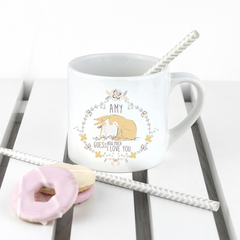 Personalised Guess How Much I Love You Wreath Babyccino Mug product image