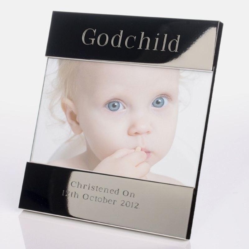 Godchild Shiny Silver Photo Frame - The Personalised Gift Shop