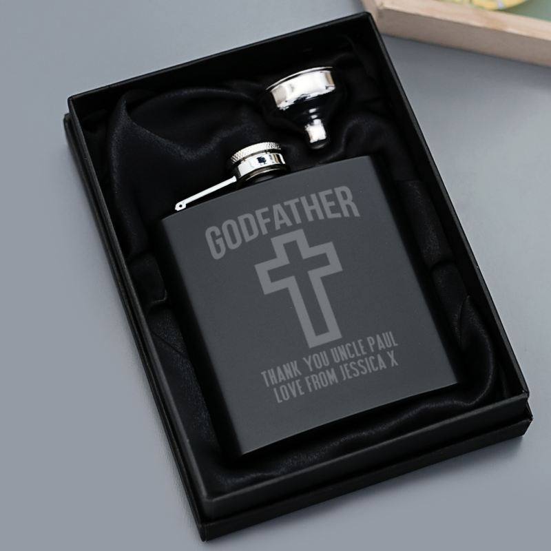 Personalised Godfather Hip Flask product image