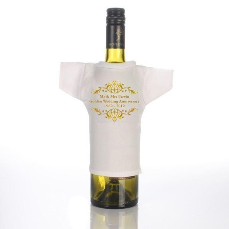 Golden Anniversary Wine Bottle T-Shirt product image