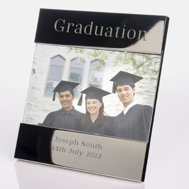 Graduation Shiny Silver Photo Frame product image