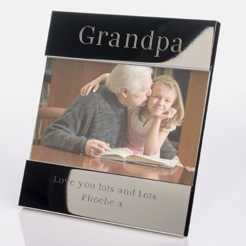 Grandpa Shiny Silver Photo Frame product image