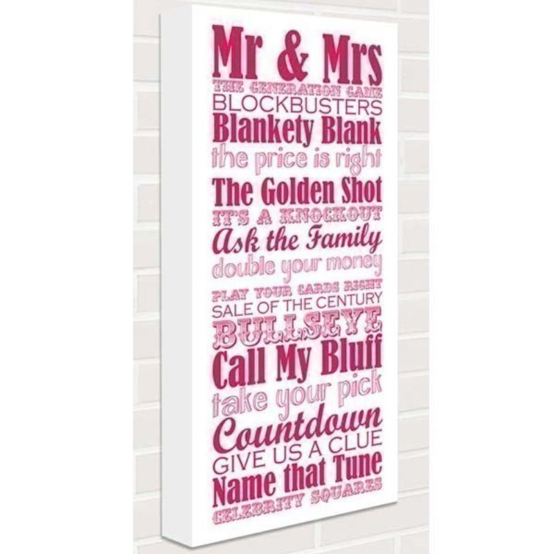 Great British Game Shows Canvas Print product image
