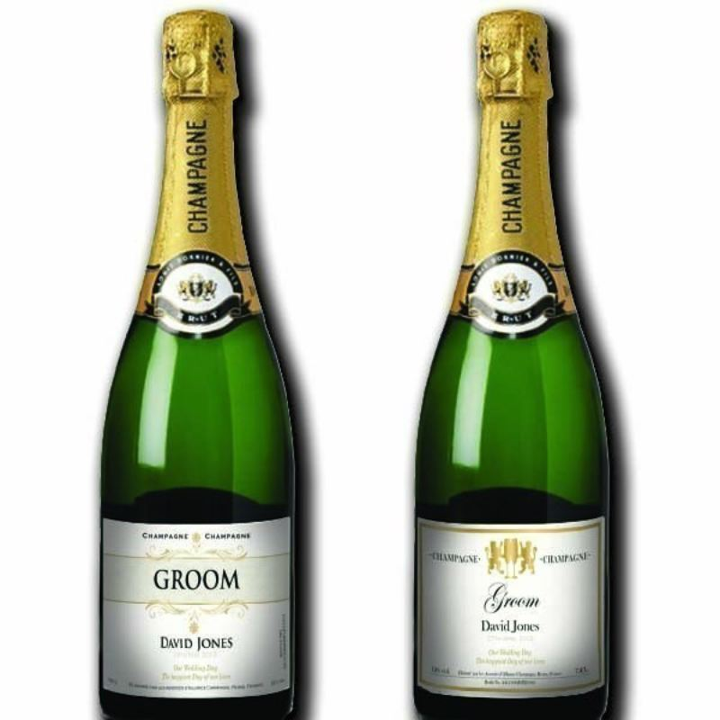 Groom Personalised Champagne product image