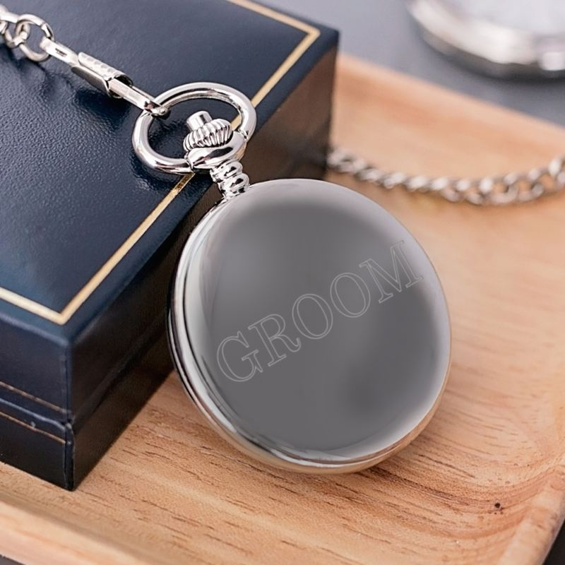 Engraved Pocket Watch for Groom product image