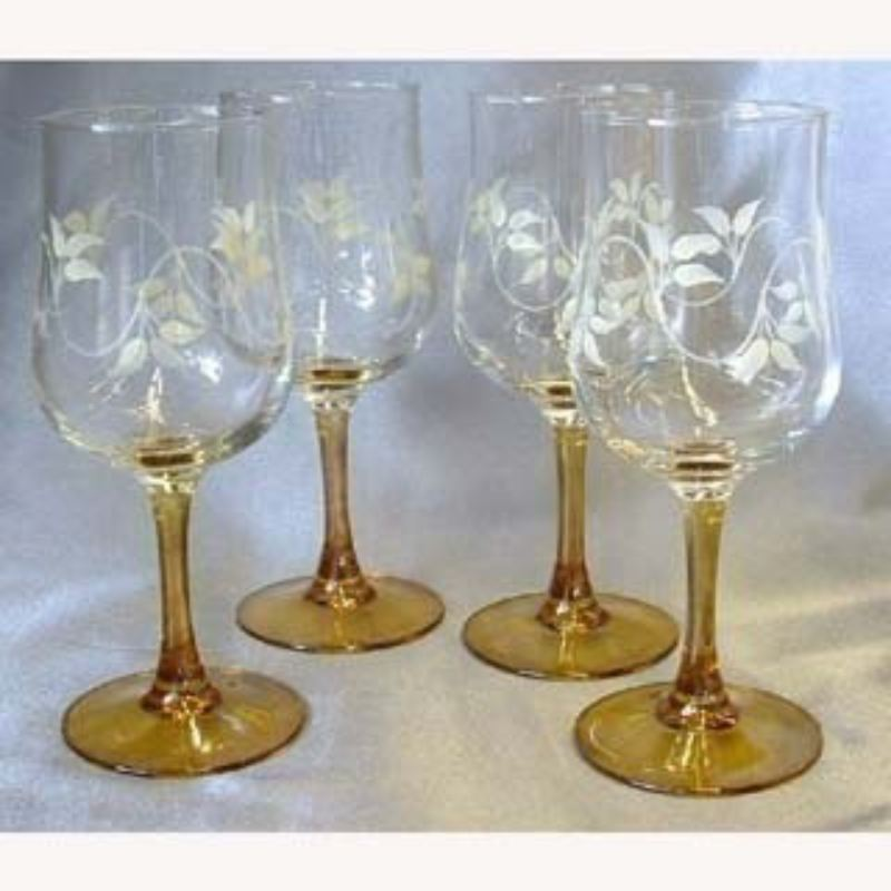 Hand Painted Wine Glasses product image