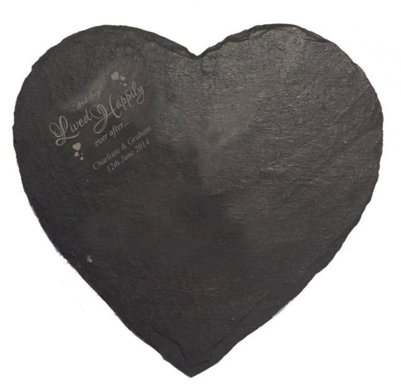 Happily Ever After Heart Slate Cheese Board product image