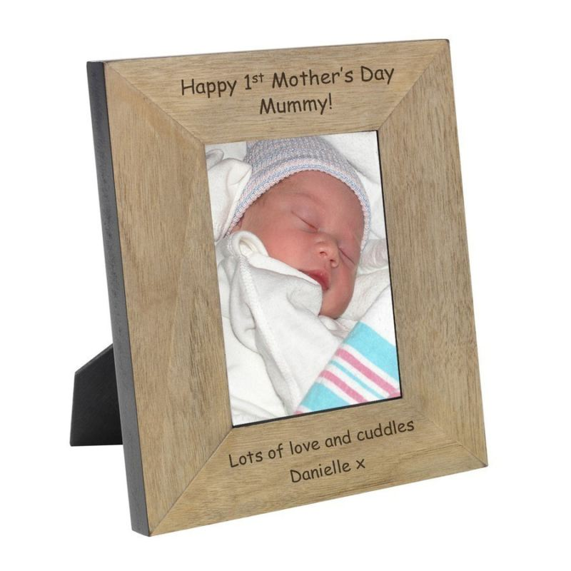 Happy 1st Mother's Day Mummy! Wood Frame 6 x 4 product image