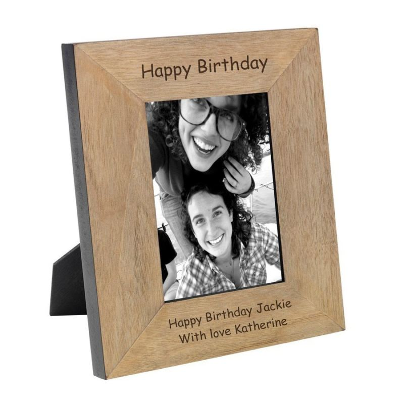 Happy Birthday Wood Photo Frame 6 x 4 product image