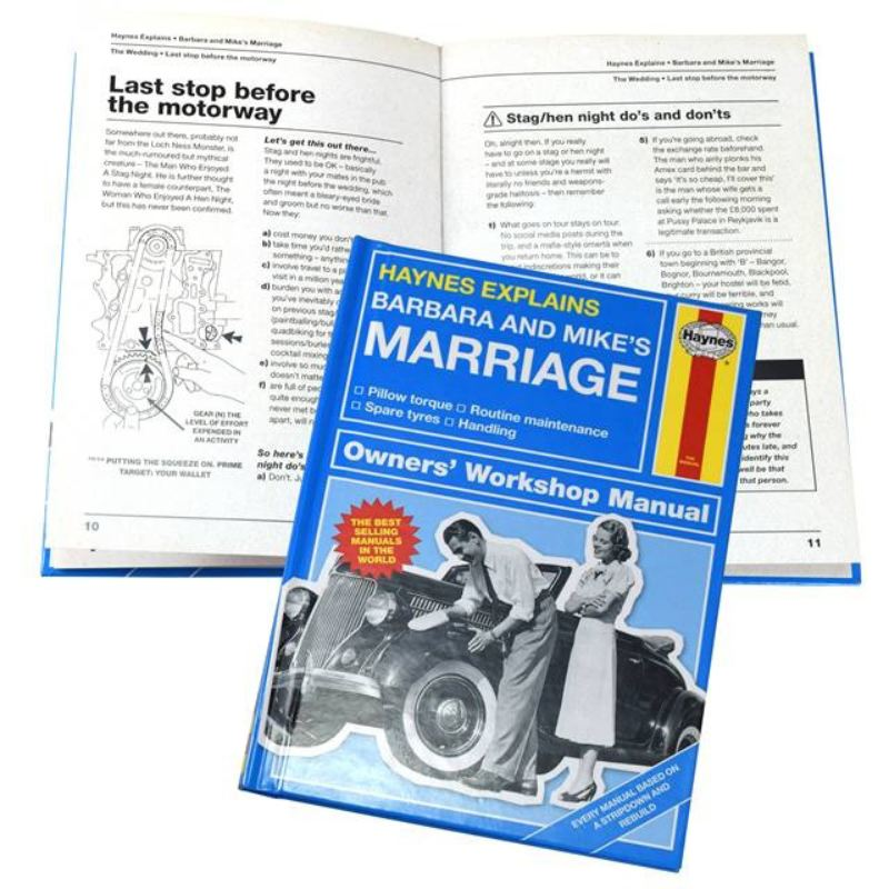 Haynes Explains Marriage - Personalised Book product image