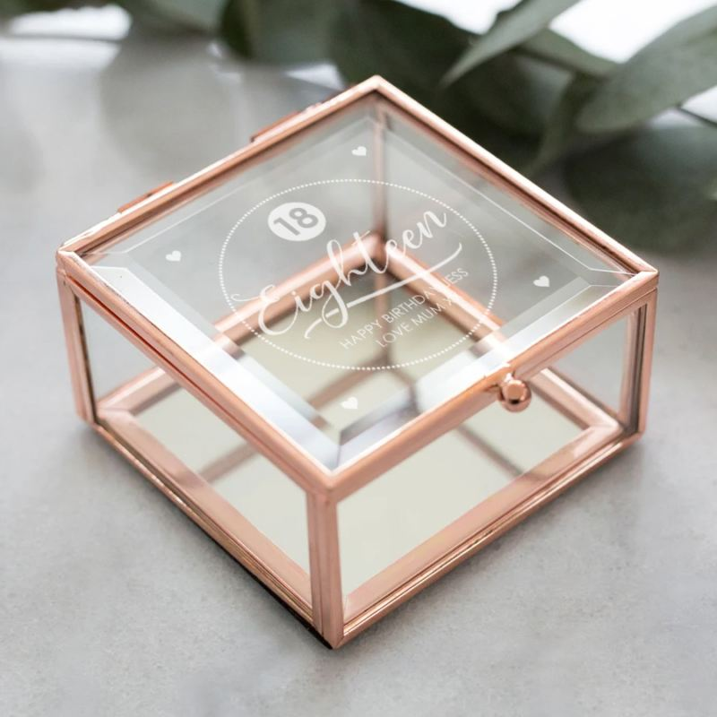 Personalised 18th Birthday Rose Gold Trinket Box product image