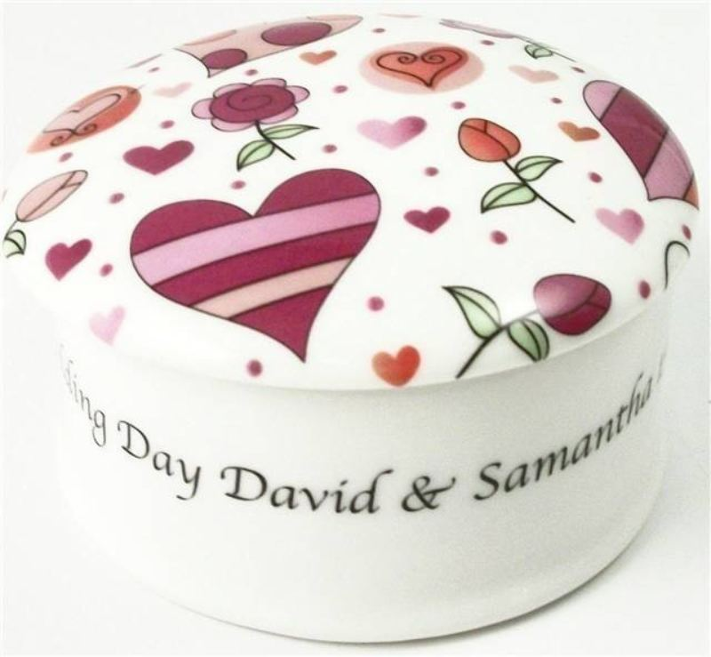 "Hearts & Roses 3"" Round Trinket Box product image"