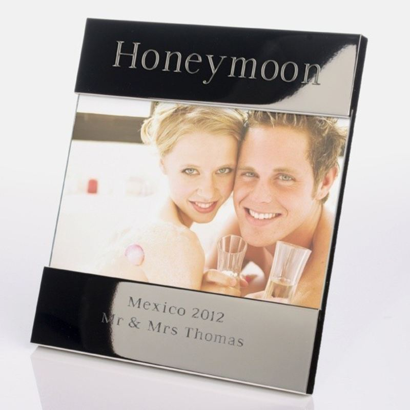 Honeymoon Shiny Silver Photo Frame product image