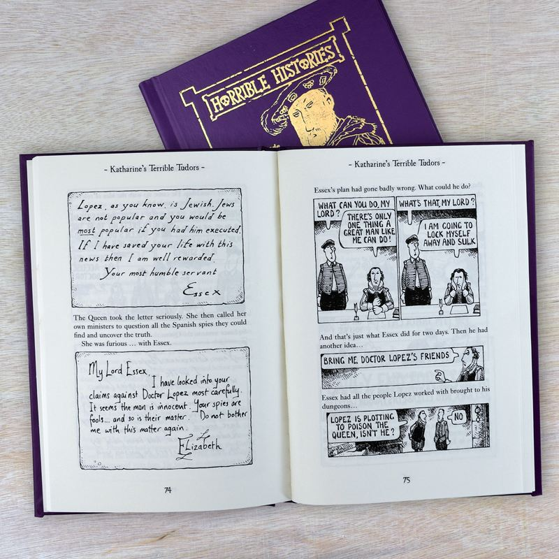 Horrible Histories Terrifying Tudors - Personalised Book product image