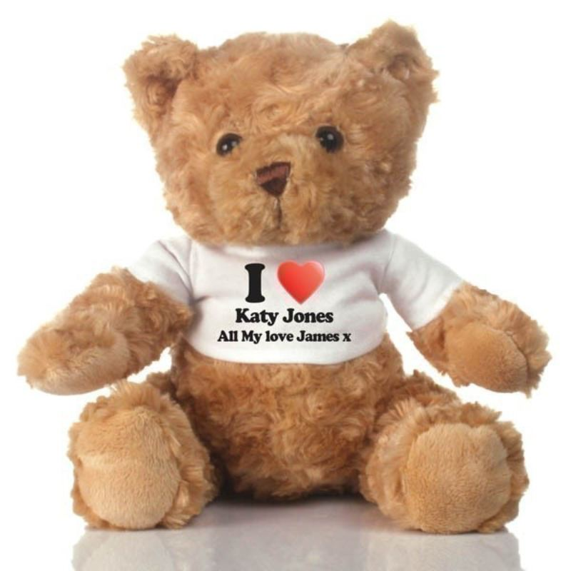 I Heart ... Personalised Teddy Bear product image