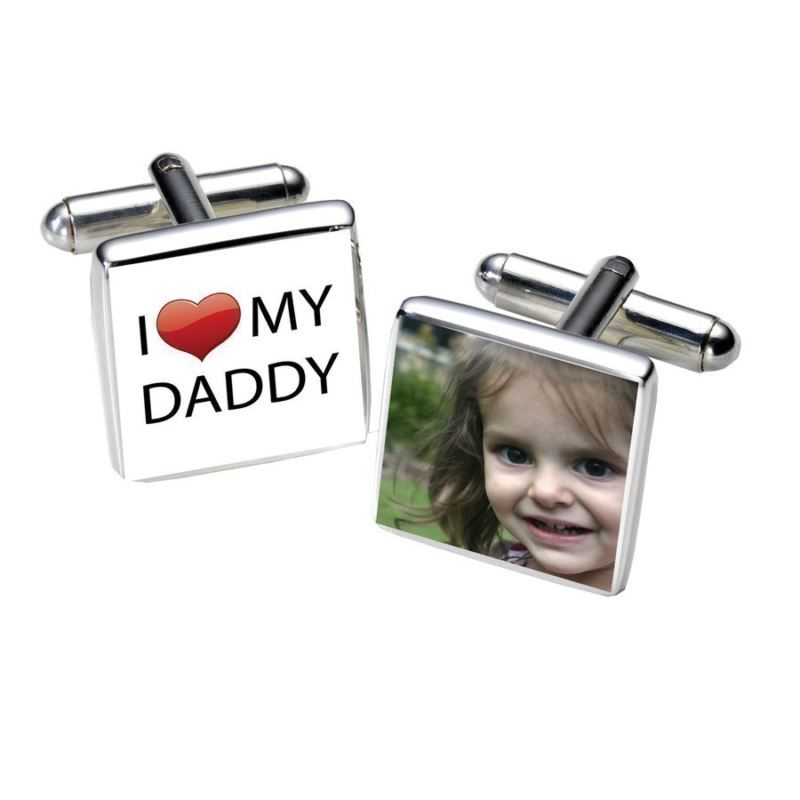 I Love Daddy Photo Cufflinks product image