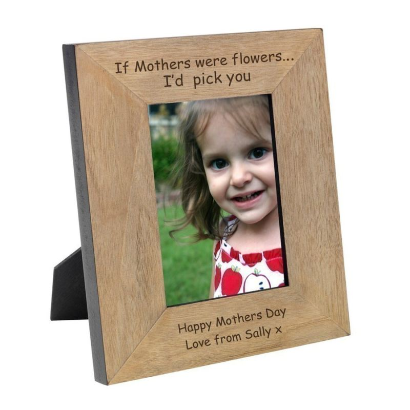 If Mothers were Flowers Wood Photo Frame 6 x 4 product image