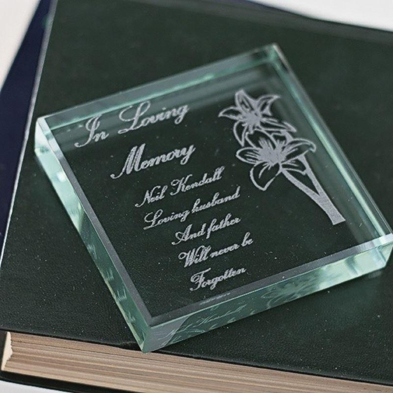 In Loving Memory Glass Keepsake The Personalised Gift Shop